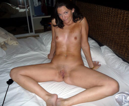 Slim ex-wife naked in the forest and..