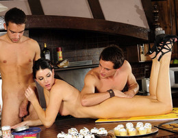 Brunette housewife India Summer takes..