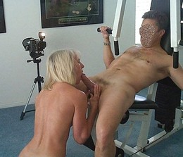 Blonde mature was unfaithful to her..