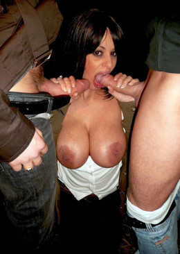 Titted Spanish milf takes two big..