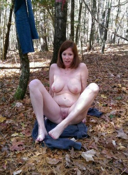 Naked walk in the woods pussy on the..
