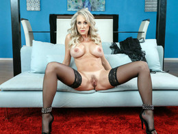 Busty 50yo mom Brandi Love stockings,..
