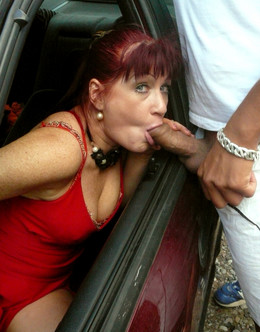 Slutty redhead mature woman sucked two..