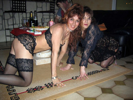 Two amateur mature girlfriends dressed..