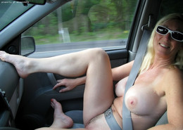 Nude mature girlfriends in the car..