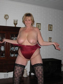Very very fat granny fully naked in..